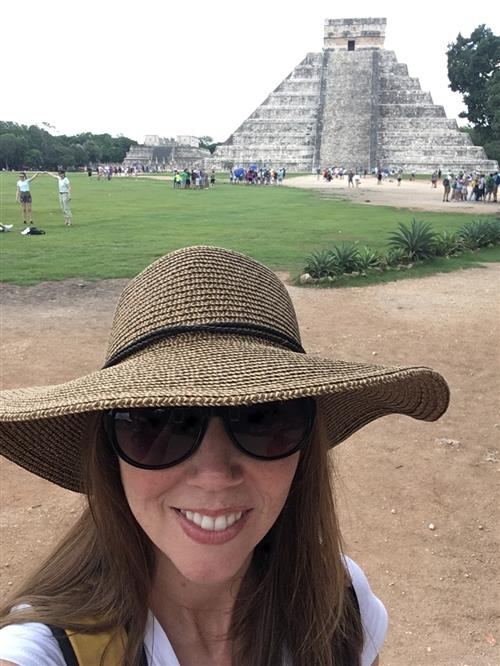 This is an image of me visiting Chichenitza.