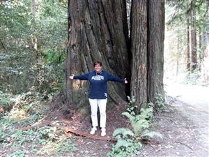 2000 year old tree and me