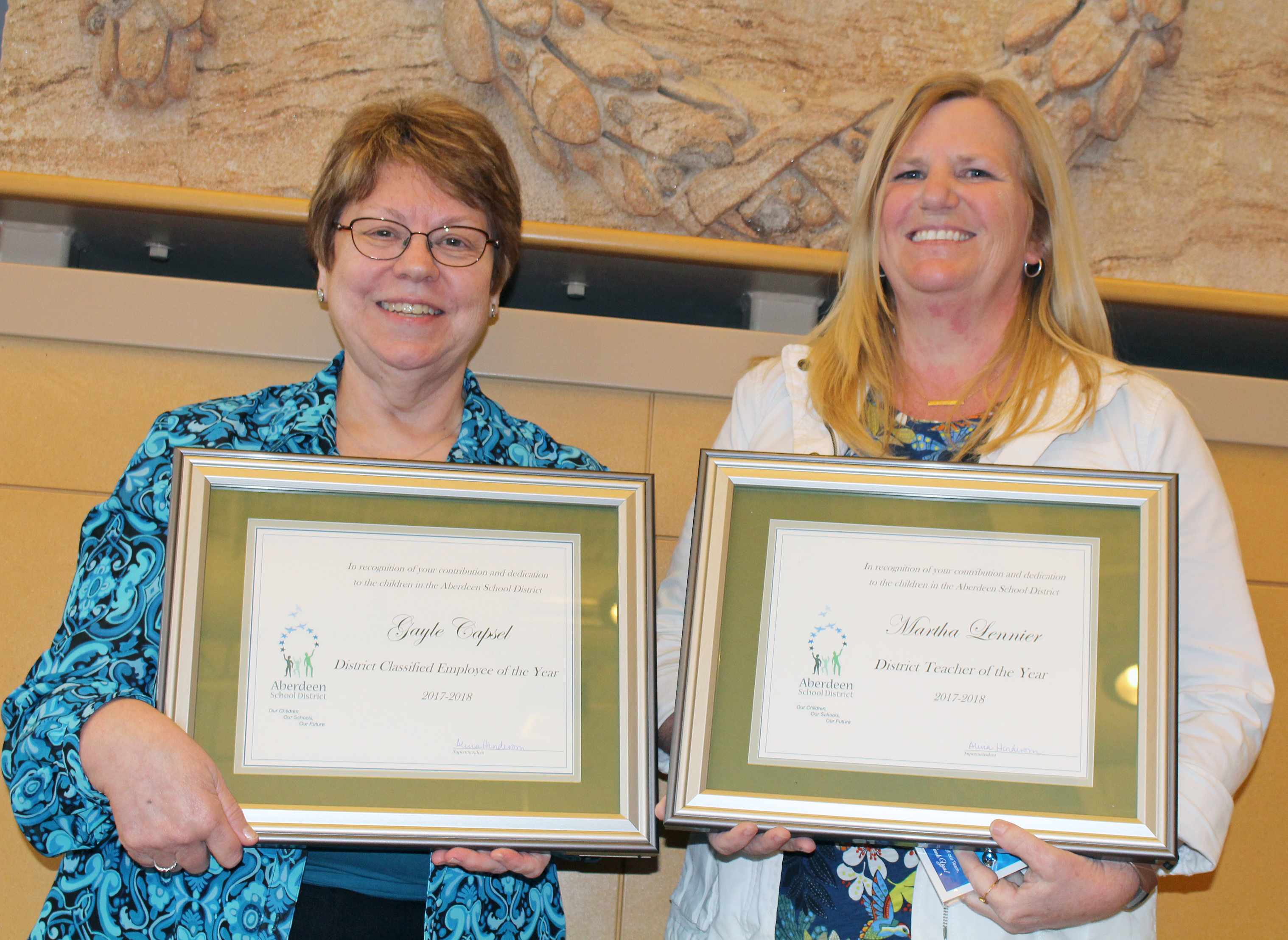 Congratulations to Our District's Employees of the Year
